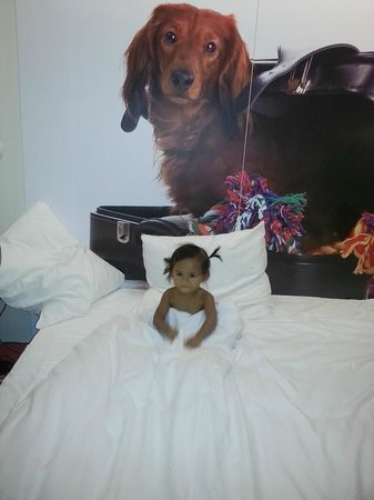 Qbic Hotel Amsterdam WTC: My little one loved the big beds at Qbic Amsterdam