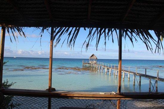 Pension Vaiama Village : vue du bungalow