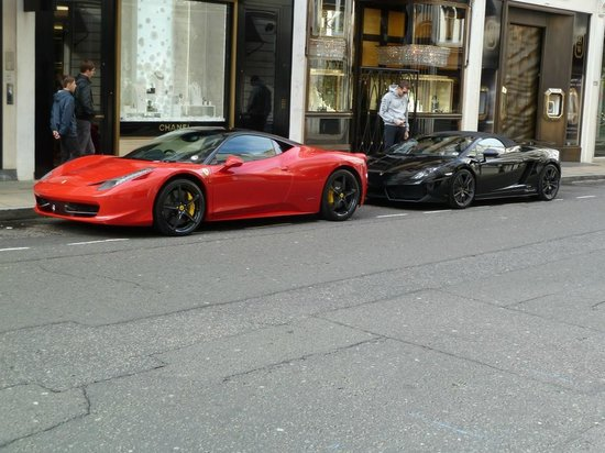 Ferrari & Lambo in Bond Street