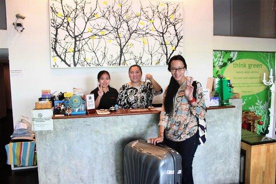 Take a Nap Hotel: the reception desk