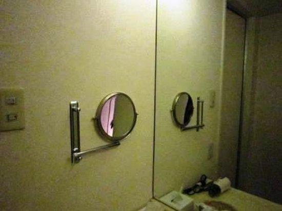 Mercure Nagoya Cypress: 洗面台脇の拡大鏡?(笑)