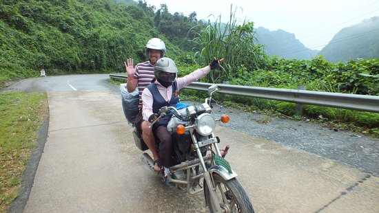 the only way to travel vietnam. thanks hue riders.
