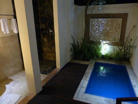 Best Western Kuta Villa: Plunge Pool and Shower area