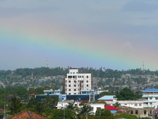 Zanzibar Palace Hotel : Rainbow view from private sundeck