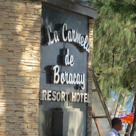 La Carmela de Boracay: entrance