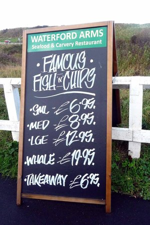 Waterford Arms: Advertising board nearby