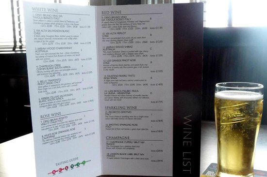 Waterford Arms: Wine List