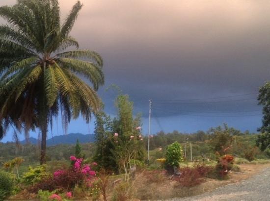 Sabah Tea Garden: afternoon storm