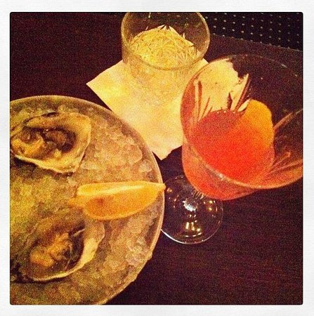Imperial Craft Cocktail Bar: Off the menu Campari based cocktail + Oysters on ice