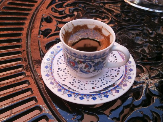 Angel's Home Hotel: Turkish coffee which was served on our departure from the hotel