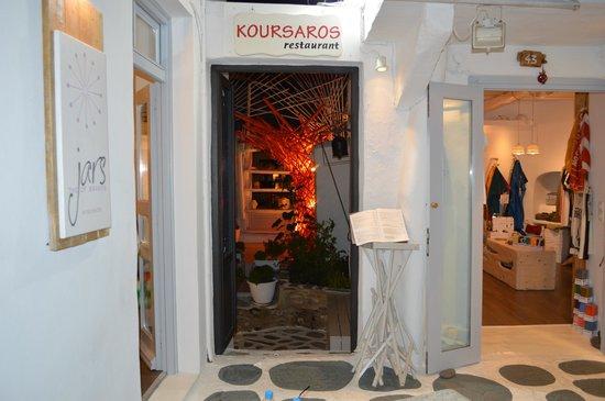 Koursaros: Ingresso del ristorante