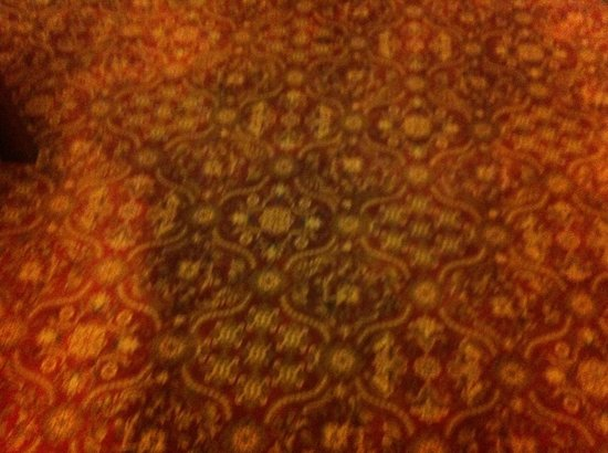 Roscoe House: Room 301 stained carpet