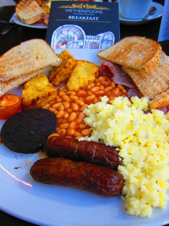 The Ivory Peg: Large Breakfast with Black Pudding