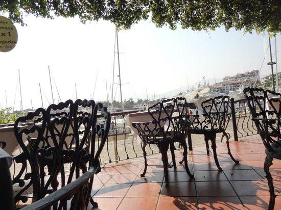 Las Palomas Doradas: Вид на залив с ресторана