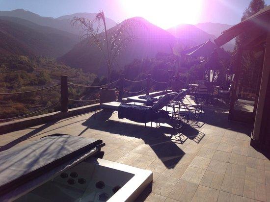 Kasbah Tamadot : terrace