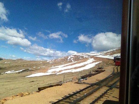Pikes Peak Cog Railway: vista do trem