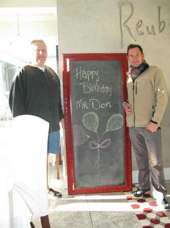 The Robertson Small Hotel: Waking up to JD's birthday message