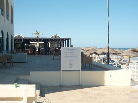 SENTIDO Djerba Beach: outside terrace for breakfast/lunch/dinner