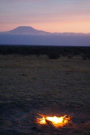Gamewatchers Adventure Camp, Selenkay : Kilimanjaro viwed from Selenkay Conservancy