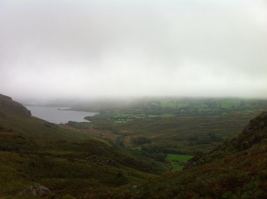 Gleninchaquin Park: View From Top over toward lakes and Kenmare Bay