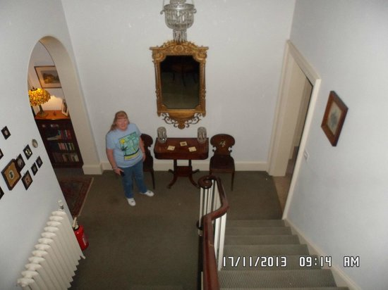 Sloley Hall: Looking down staircase
