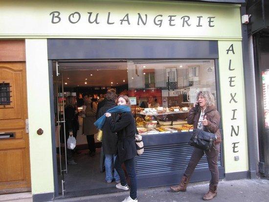 Boulangerie Alexine : façade boulangerie