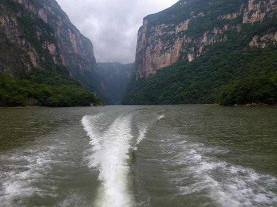 Cañón del Sumidero: Ausfahrt aus dem Canon