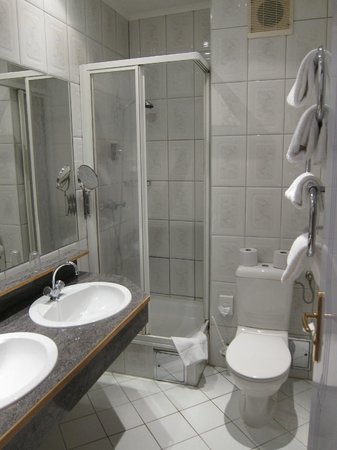Hotel Nestroy: Toilet is very small. Shower cubic is small and if one is bigger, you will definitely knock your