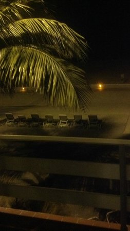 Thunderbird Beach Resort: night time view from our room