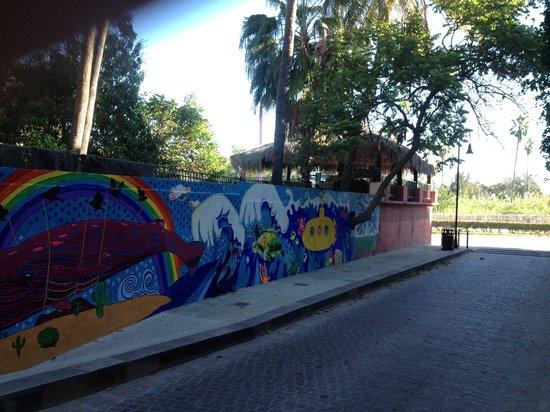 Hotel Posada Senor Manana: Painted wall Señor Mañana