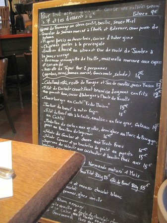 Cafe Bonal: lavagna menu