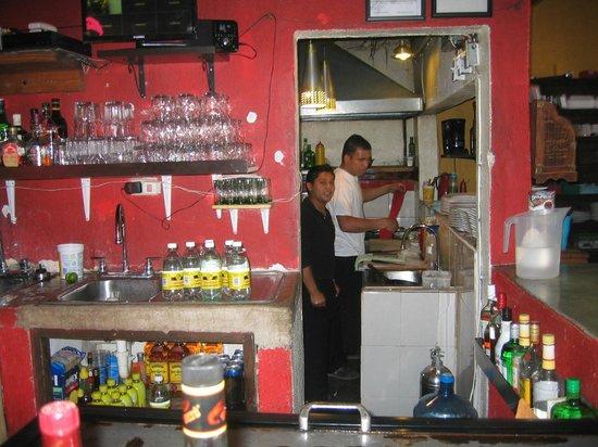 La Casita Tapas - Wine & Sushi Bar : bar area, looking into the kitchen
