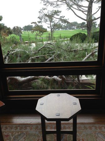 The Lodge at Torrey Pines: View from the lobby seating area.