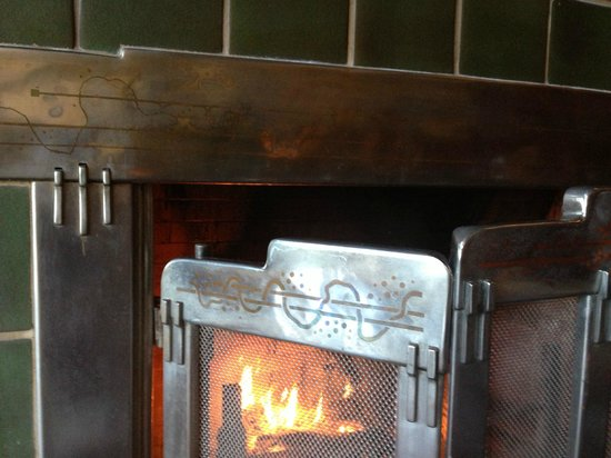 The Lodge at Torrey Pines: Attention to detail - lobby fireplace
