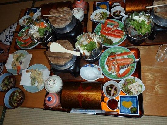 Urashimaso: 夕食は海鮮中心でした