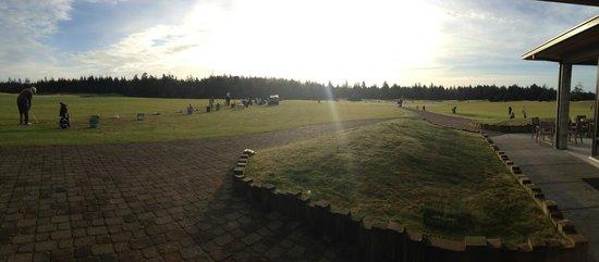 Bandon Dunes Golf Resort: the golf practice area