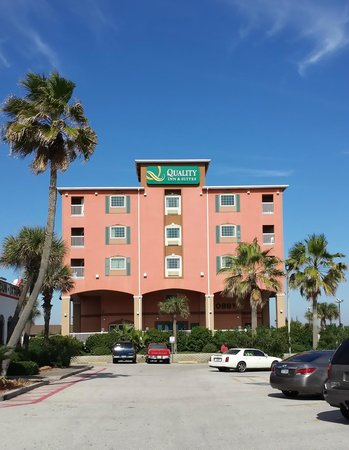 Quality Inn & Suites Beachfront : Faces Seawall Blvd