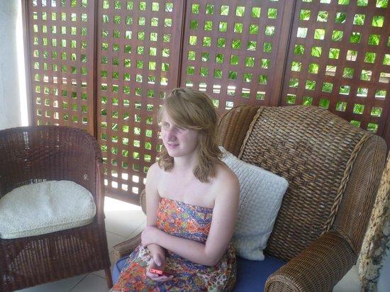 Best Western Coral Beach Hotel: Sophie on the varanda-  just looking at the ocean