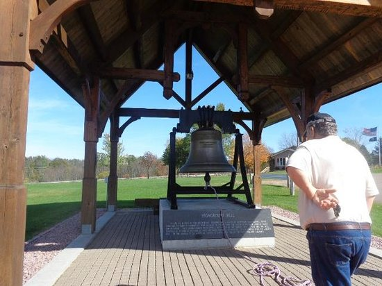 The Highground Veterans Memorial Park : Bell you are encouraged to ring-as to not forget the sound of freedom