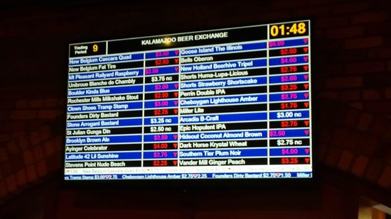 Kalamazoo Beer Exchange: Market crash...