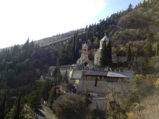 Tiflis, Georgia: Храм святого отца Давида/пантеон