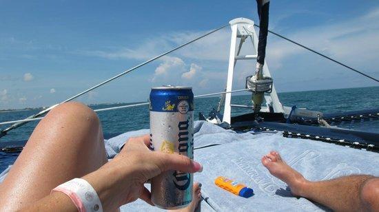 Marina La Bonita : enjoying view from the front of the boat