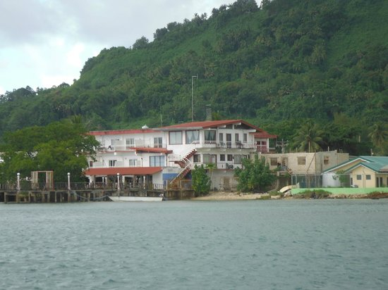 Truk Stop Hotel: View from the boat
