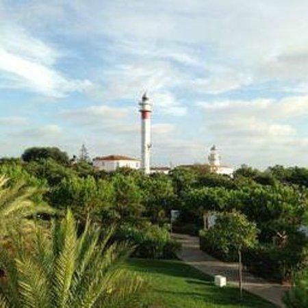 Hotel Fuerte el Rompido: Vistas desde el hotel al faro