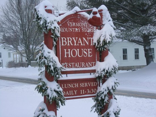 Bryant House: winter sign