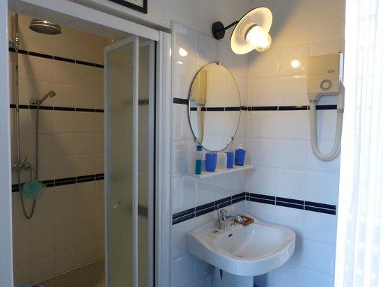 Les Tuileries de Chanteloup: Chambre Marine: salle d'eau