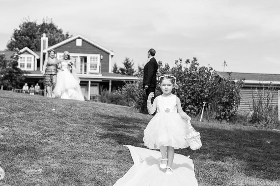 By the Bay Bed and Breakfast: A wedding at By the Bay - the sweet flower girl