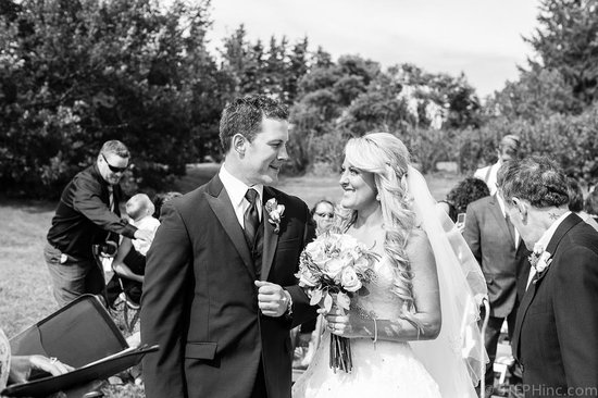 By the Bay Bed and Breakfast : The Happy Bride and Groom