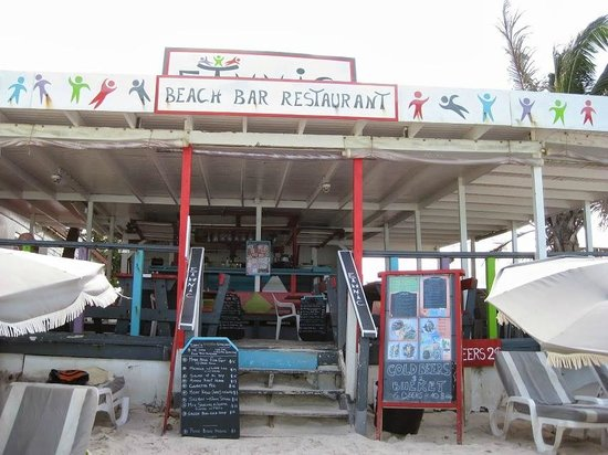 Ethnic Beach Bar Restaurant: A view of Ethnic from the beach