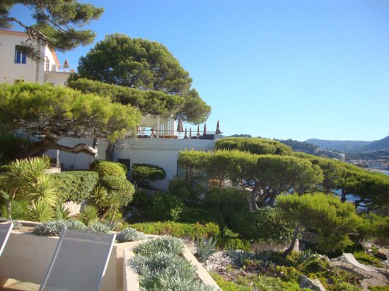 Les Roches Blanches : Garden view